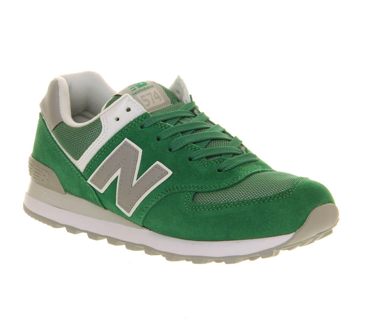 new balance new balance m574 green grey trainers shoes ebay. Black Bedroom Furniture Sets. Home Design Ideas