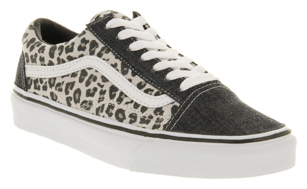 old skool leopard vans slip