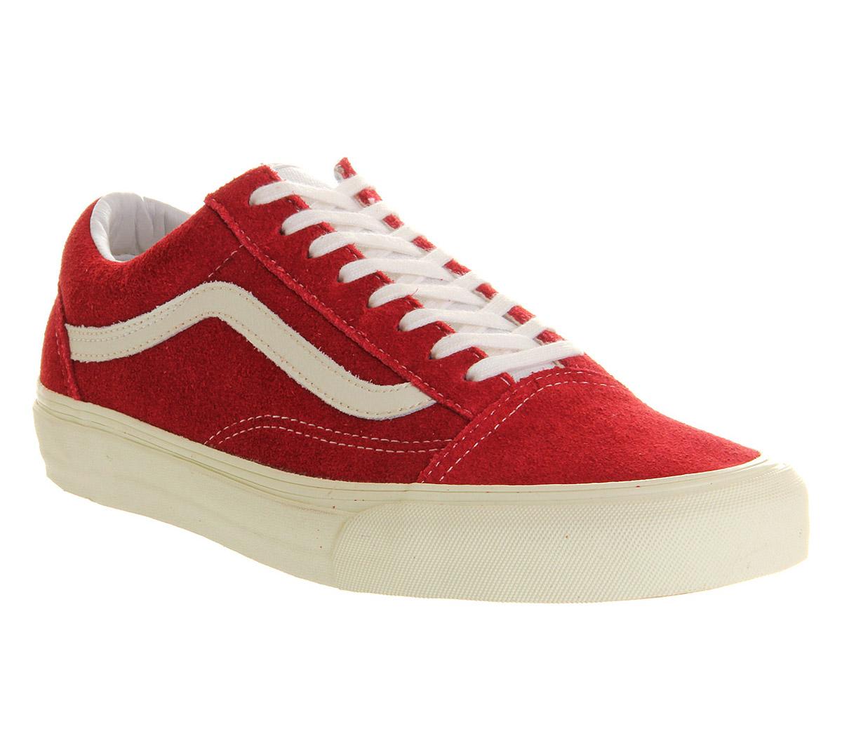 vans old skool vintage rio red trainers shoes ebay. Black Bedroom Furniture Sets. Home Design Ideas