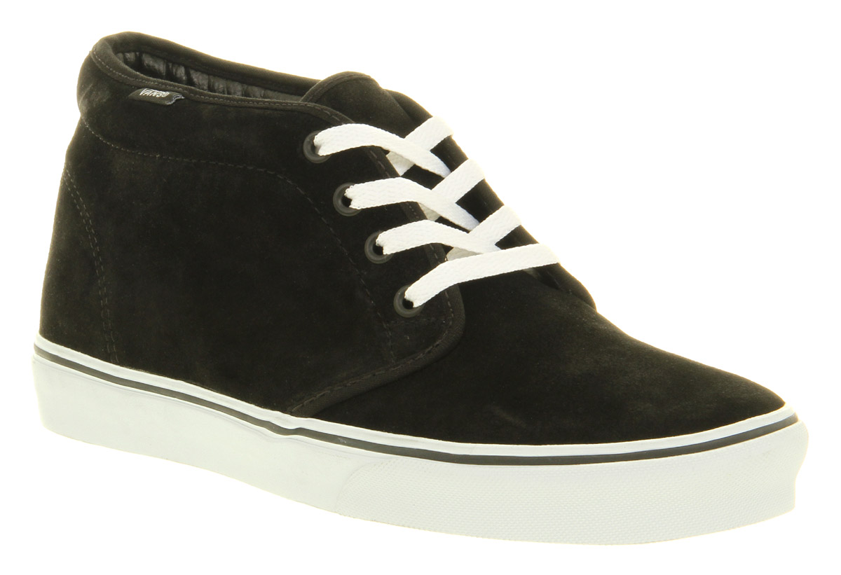 mens vans chukka boot black suede wht trainers shoes