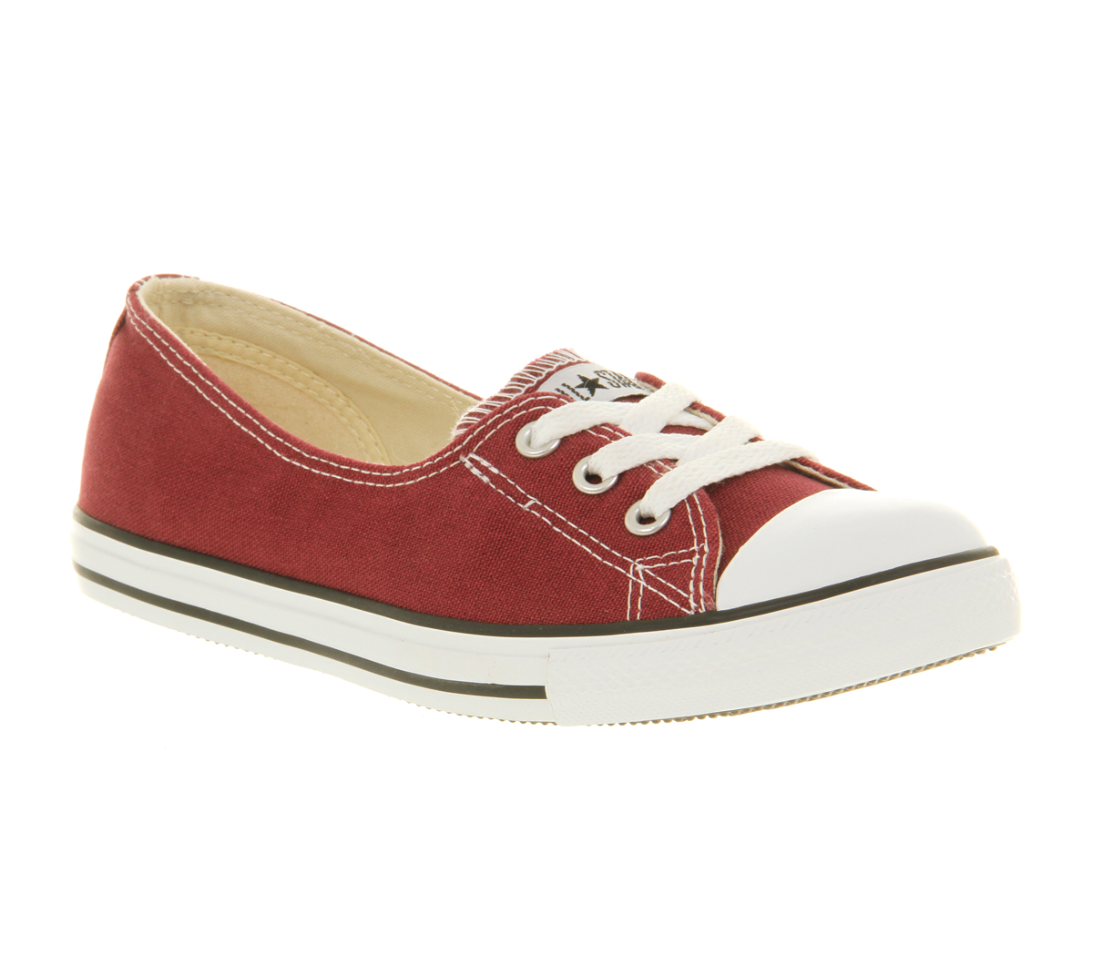 b867606dee71 Image is loading Womens-Converse-Dance-Lace-Maroon-Cranberry -Exclusive-Trainers-