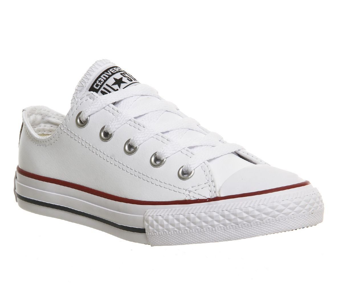 Kids-Converse-All-Star-Low-Youth-OPTICAL-WHITE-LEATHER-EXCLUSIVE-Kids