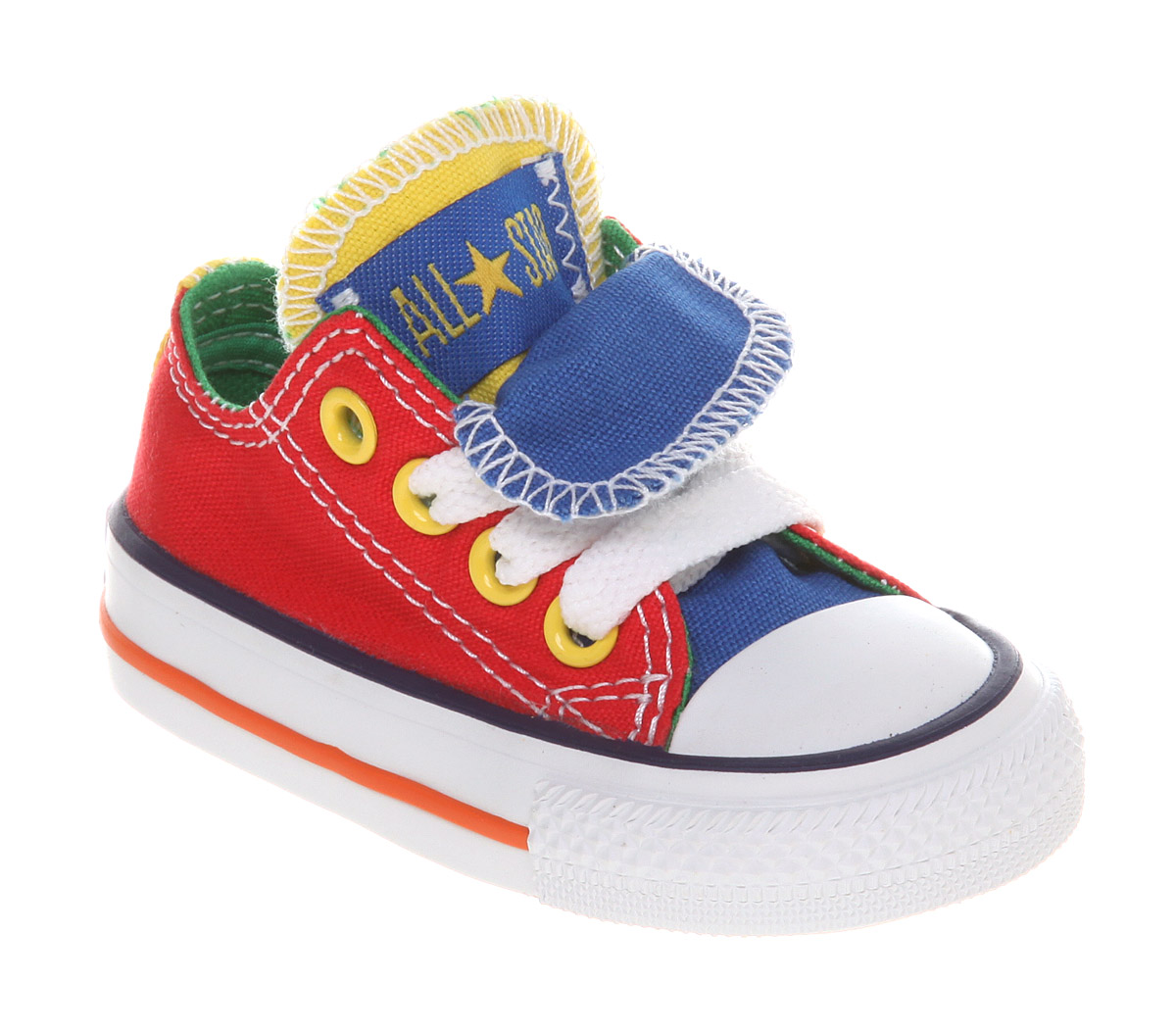 Kids Converse Double Tongue Ox Low Kids 12+ Months Red ...