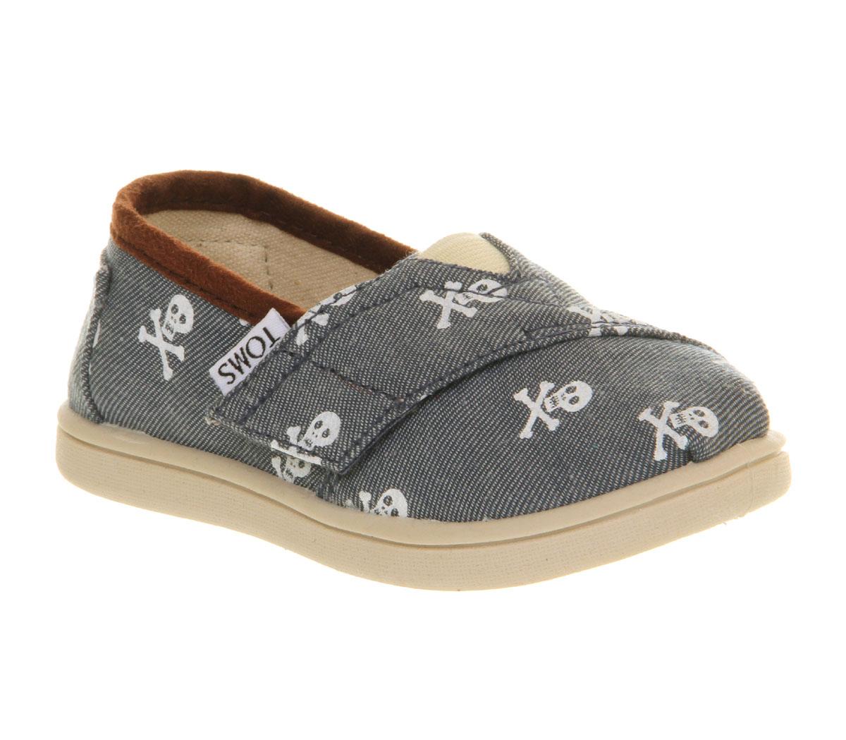 Toms Skull Shoes Blue