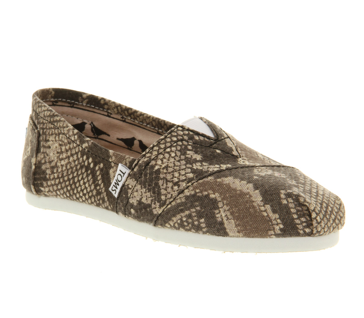 Womens-Toms-Classic-Slip-On-Snake-Canvas-Exclusive-Flats