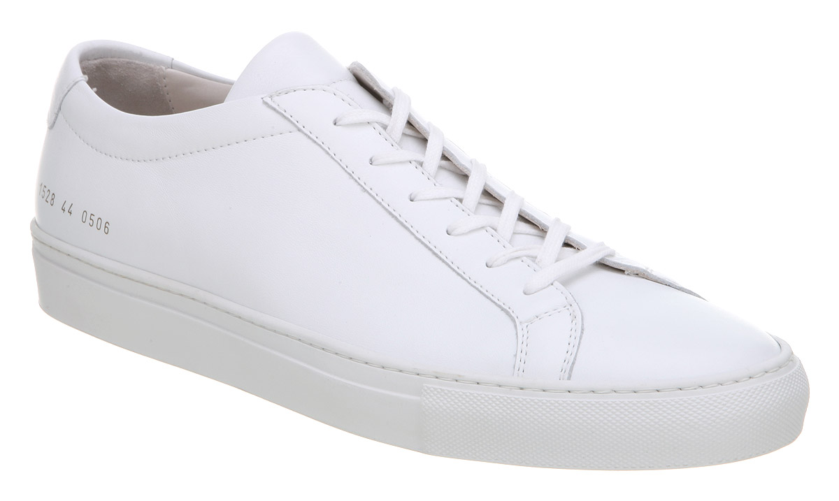 Mens Common Projects Achilles Low White Trainers Shoes - Size 10