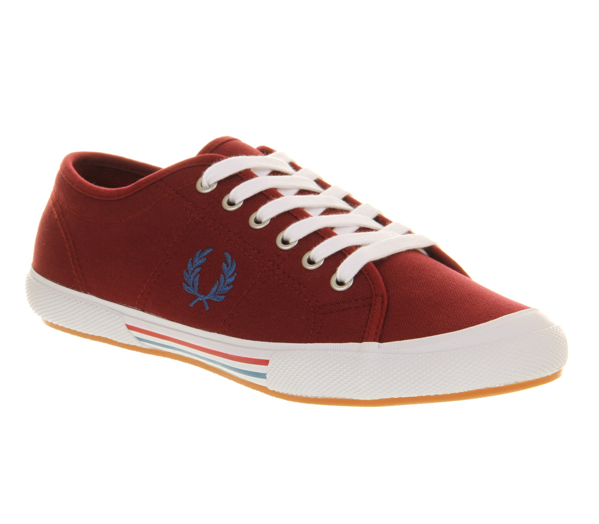 mens fred perry vintage tennis maroon enamel blue blood