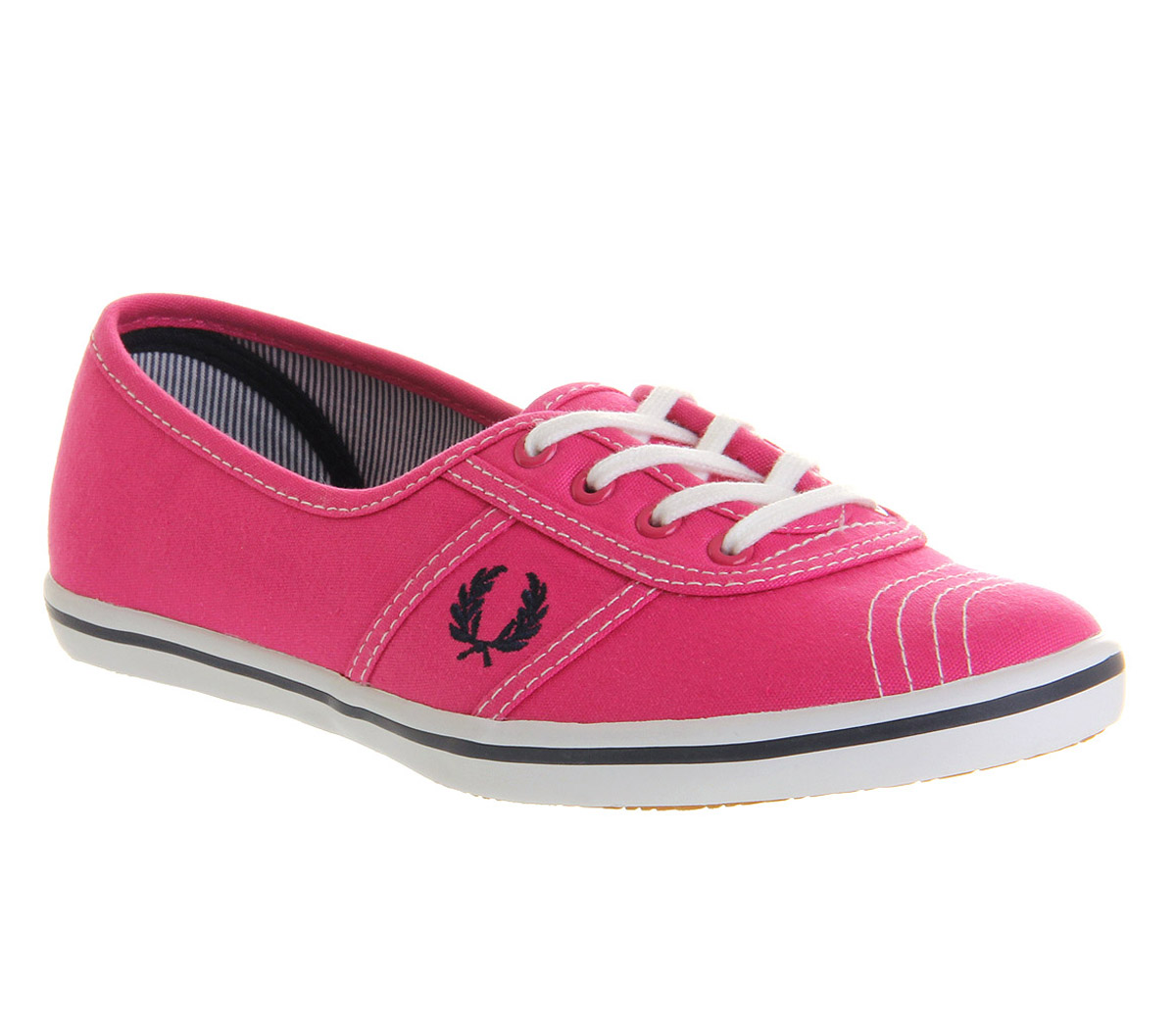 Image is loading Womens-Fred-Perry-Aubrey-Wht-ginger-Snap-Trainers