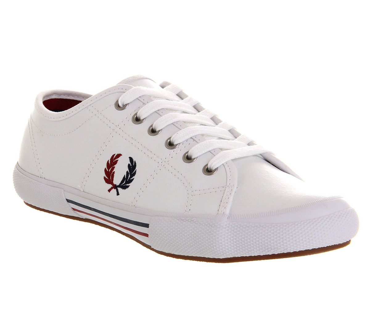Mens Fred Perry Vintage Tennis Leather White Navy Red Exclusive Trainers Shoes   eBay