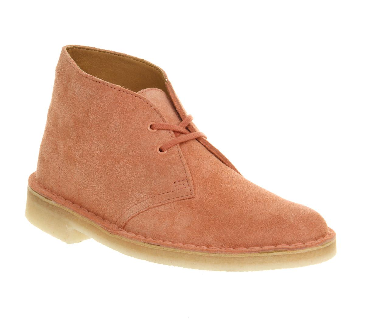 womens clarks originals desert boot dusty pink suede boots