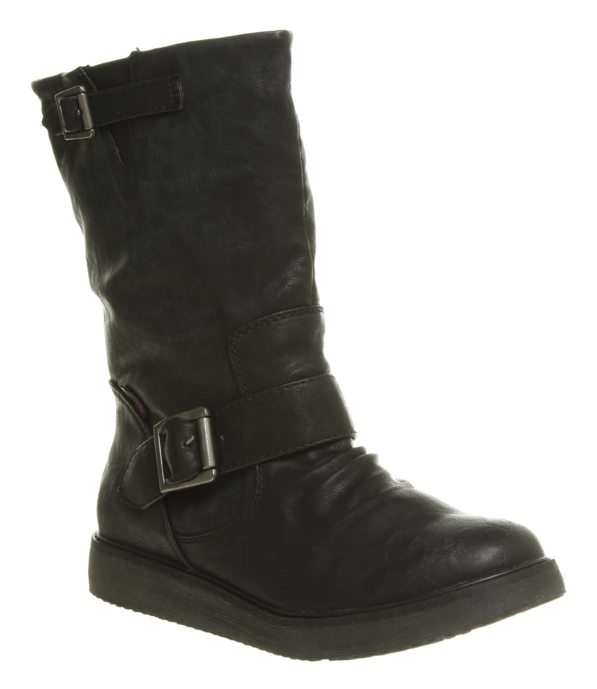 Perfect Womens Black Ankle Biker Boots.
