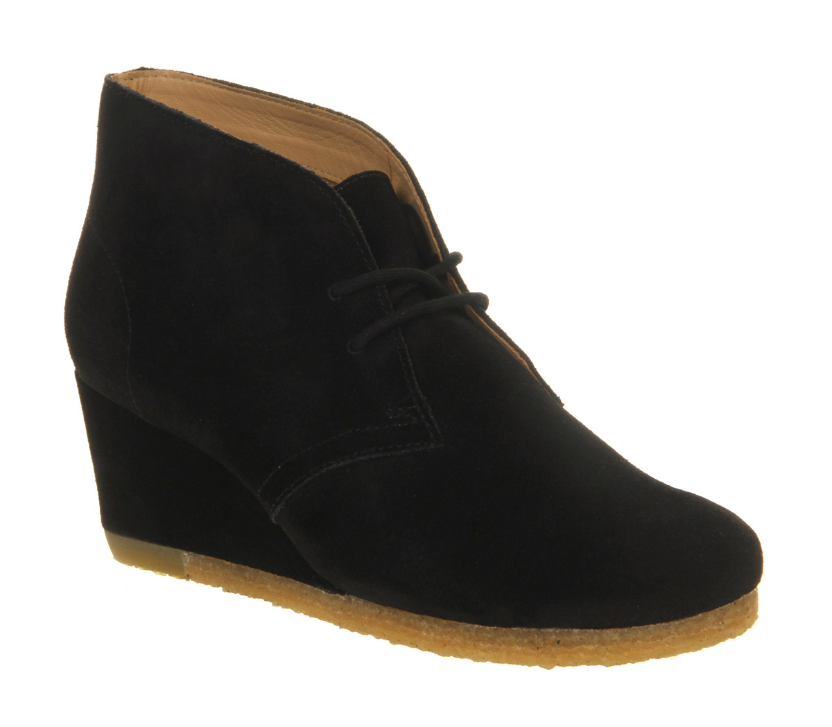 womens clarks originals yarra desert boot black suede