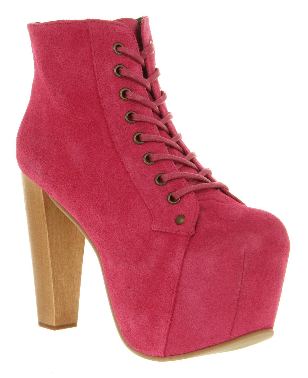 Womens jeffrey campbell lita platform ankle boot bright pink sde boots size 8 ebay - Jeffrey campbell lita platform boots ...