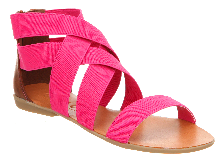 womens office herman elastic pink elastic sandals