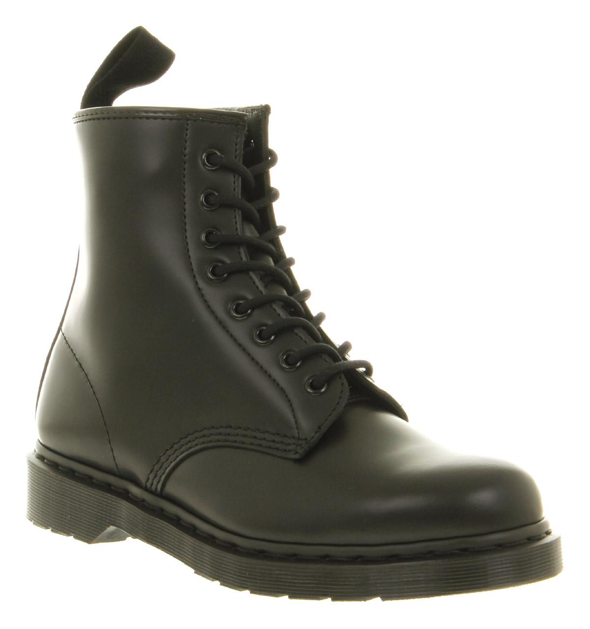 mens dr martens dm 8 eye mono boot black leather boots