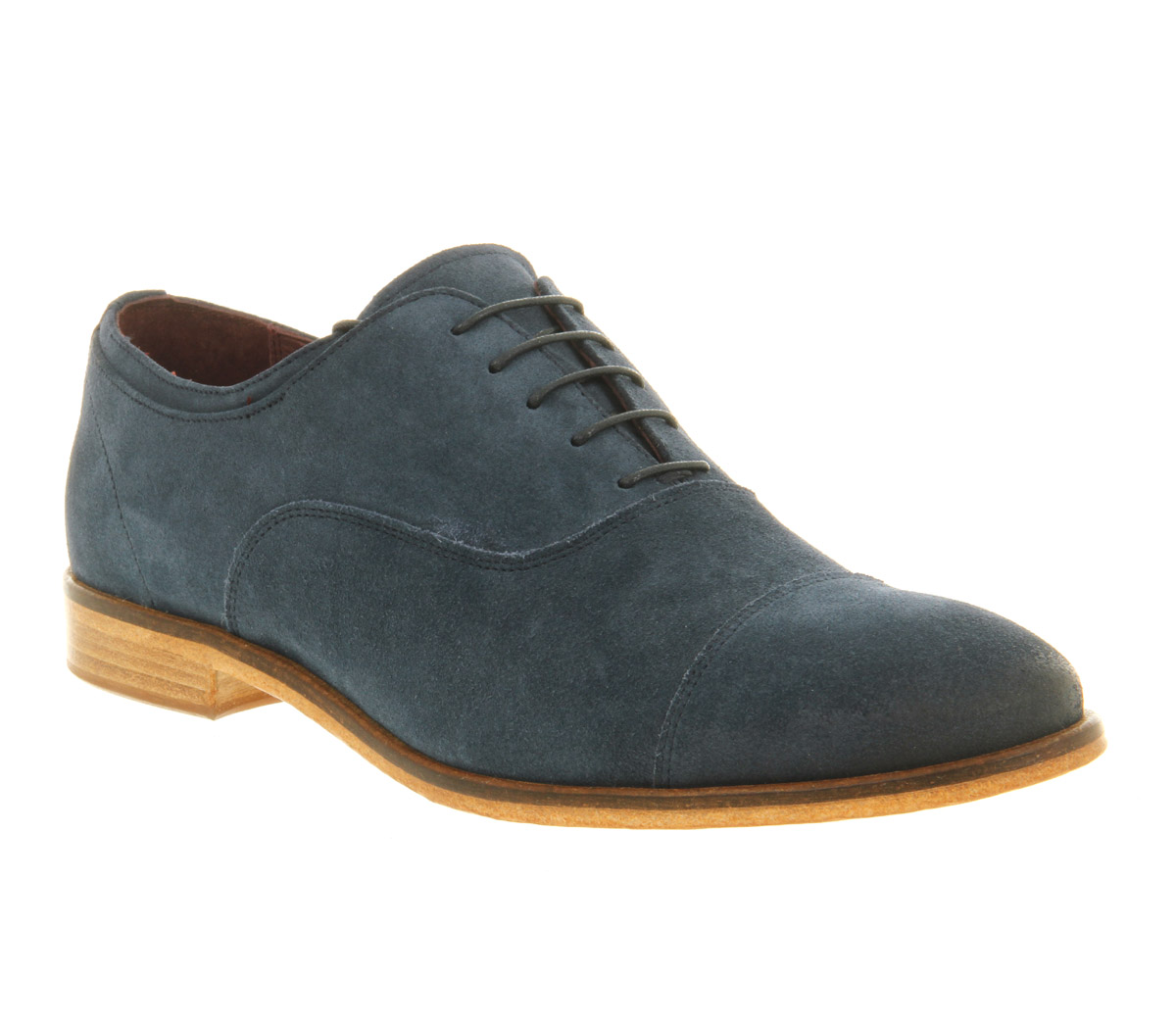 mens poste angelo lace blue suede formal shoes ebay