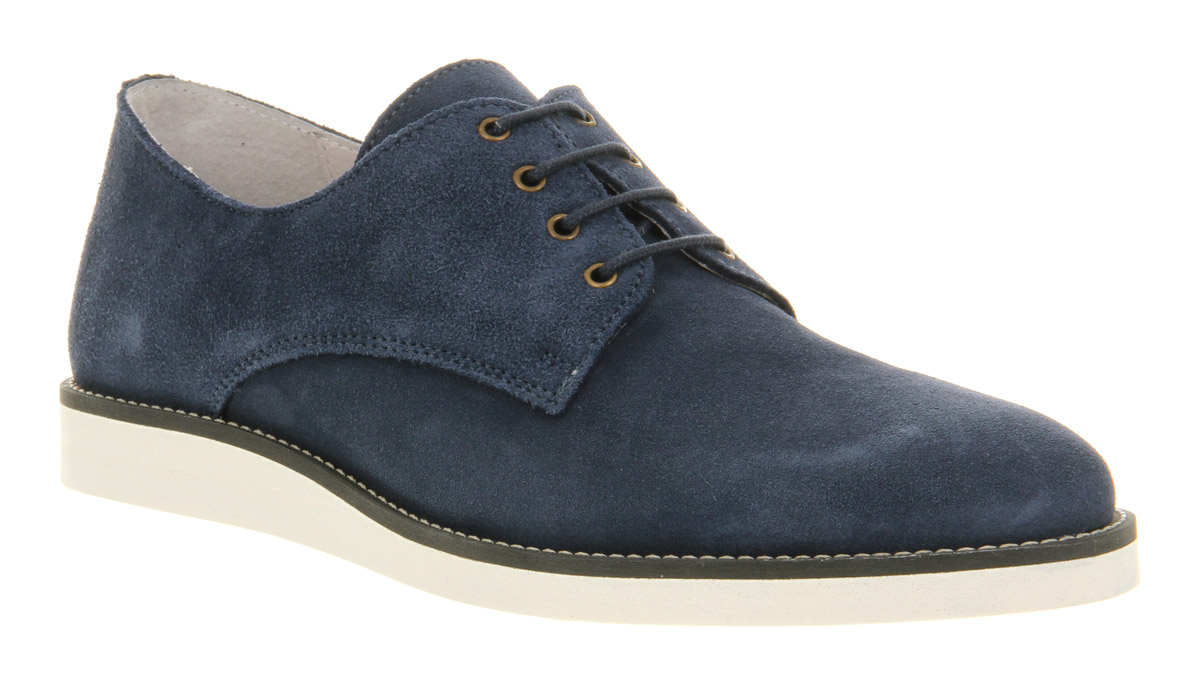 mens ask the missus lloyd lace up navy suede formal shoes