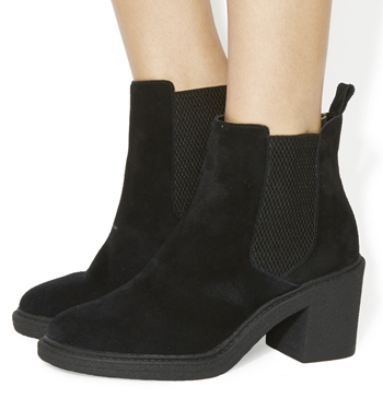 Womens Office Loco Chelsea Boots Black Suede