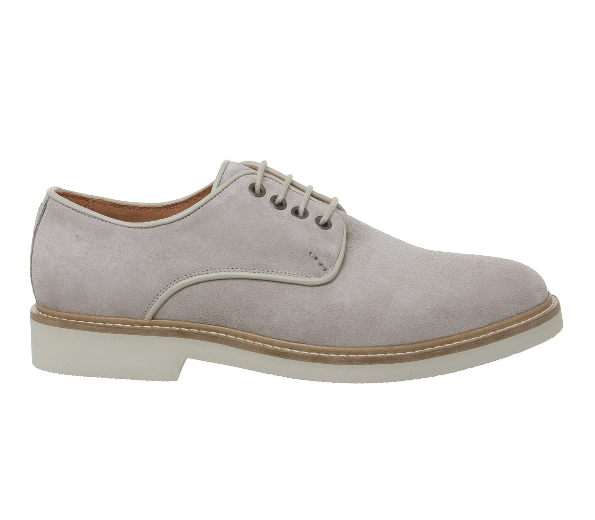 Mens Shoe The Bear Greenwich Derby Shoes Taupe Suede Casual Shoes
