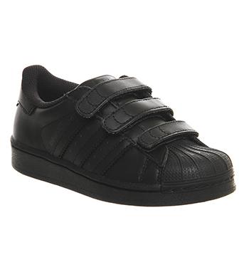 childrens adidas superstars black