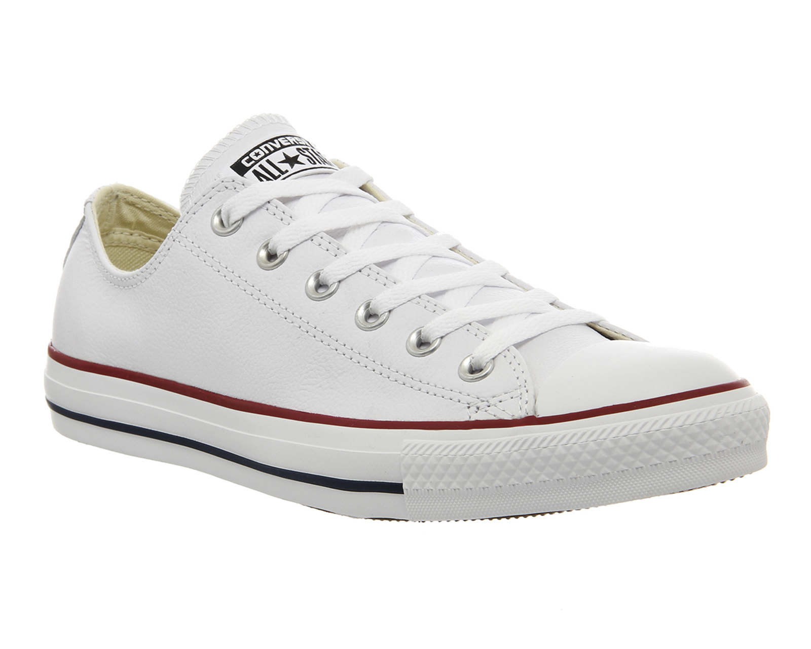 womens converse all low leather optical white