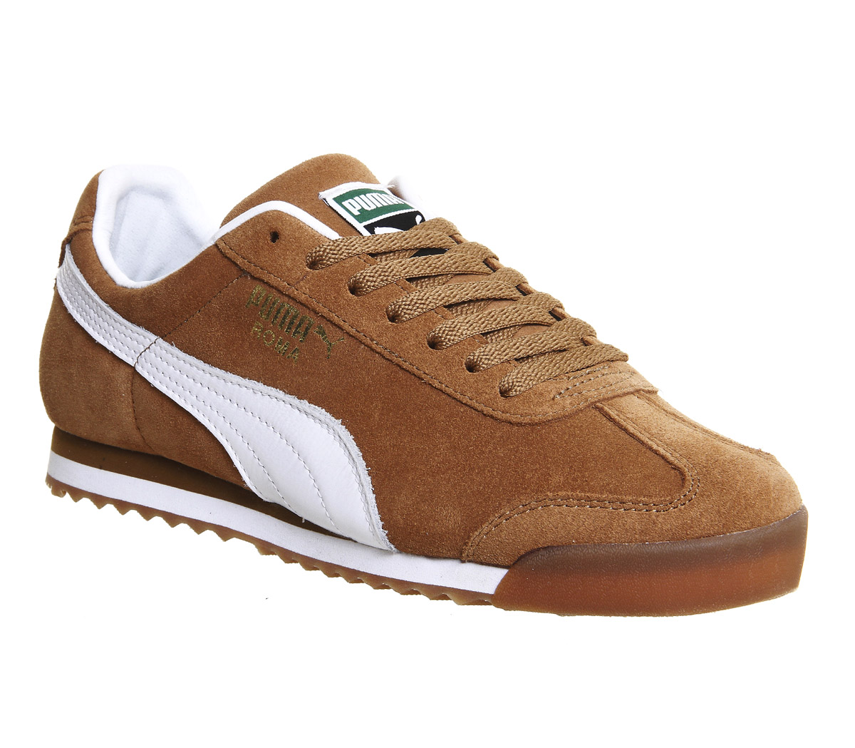 Puma-Roma-CHESTNUT-WHITE-GUM-EXCLUSIVE-Trainers-Shoes