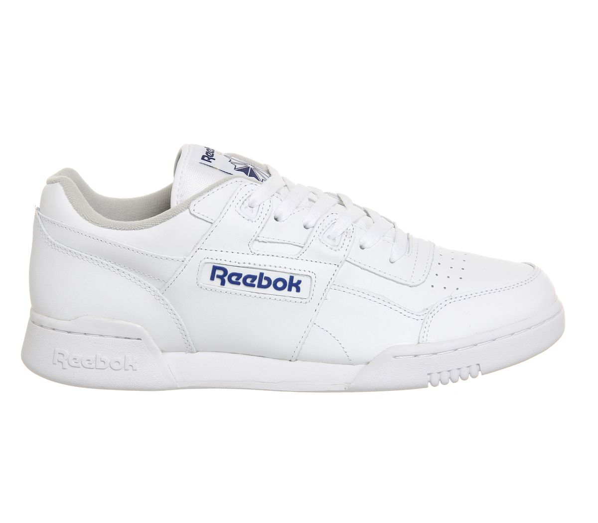 Reebok Workout Plus White Royal Trainers Shoes