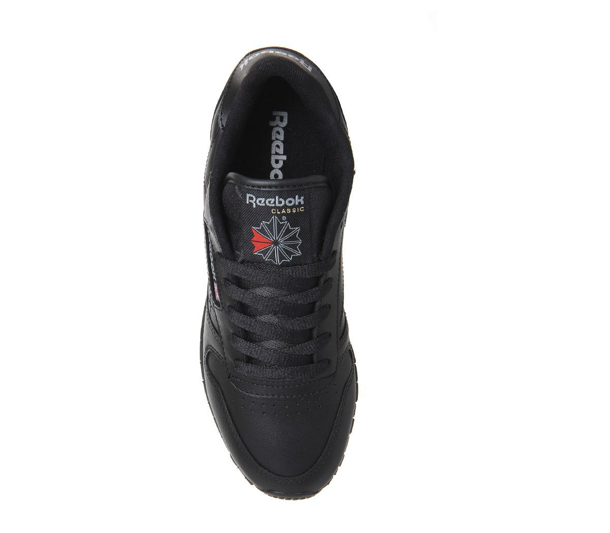 Zapatillas para mujer Reebok Classic de cuero negro cuero planos