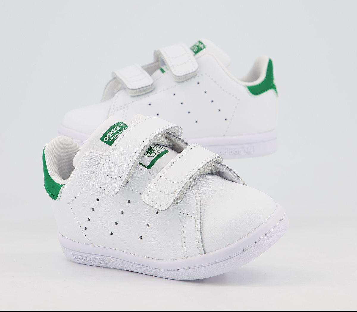 Kids Adidas Stan Smith Cf Td 3-9 White Green Kids