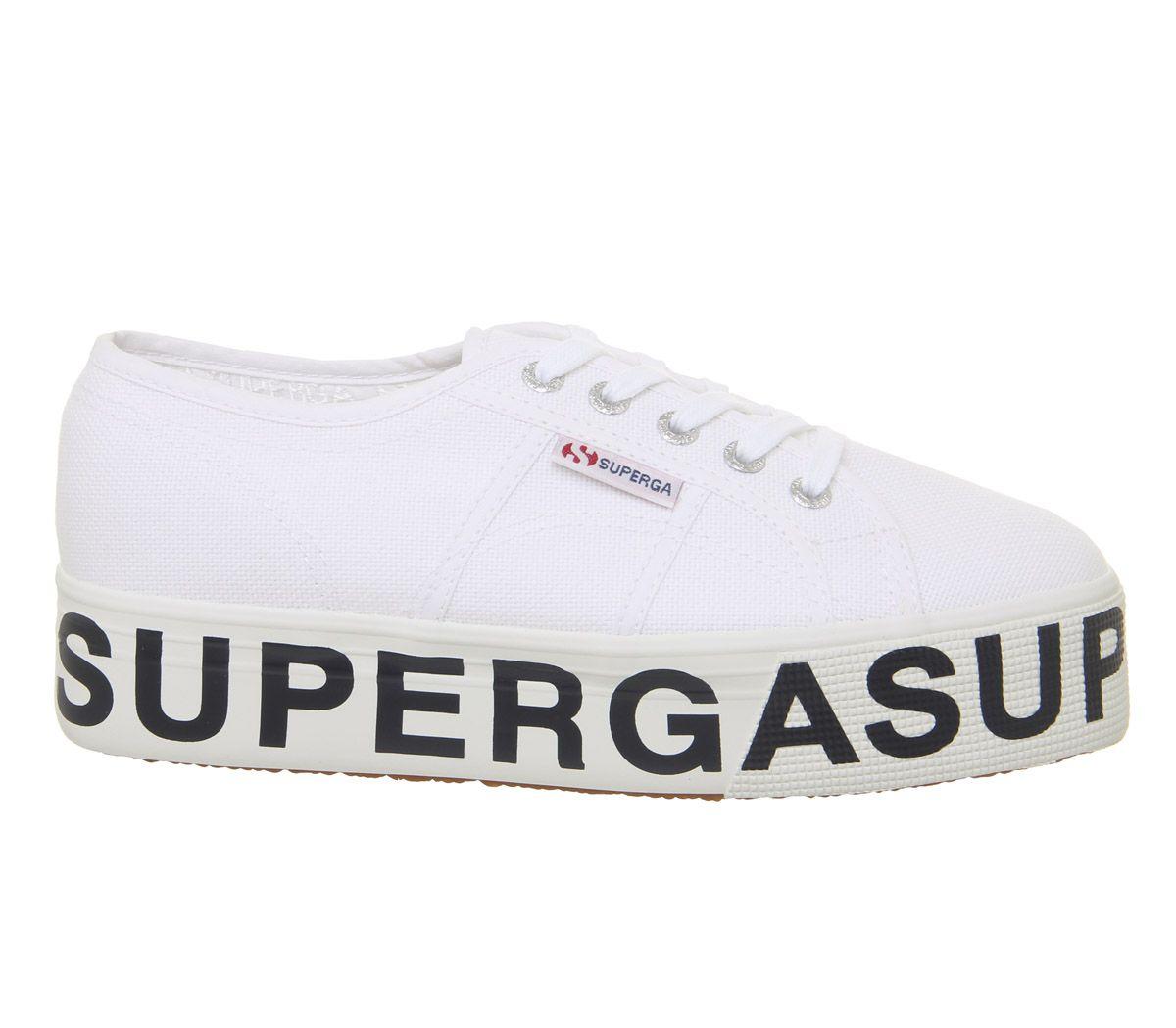 Damen Superga 2790 Turnschuhe Weiß Superga Logo Turnschuhe