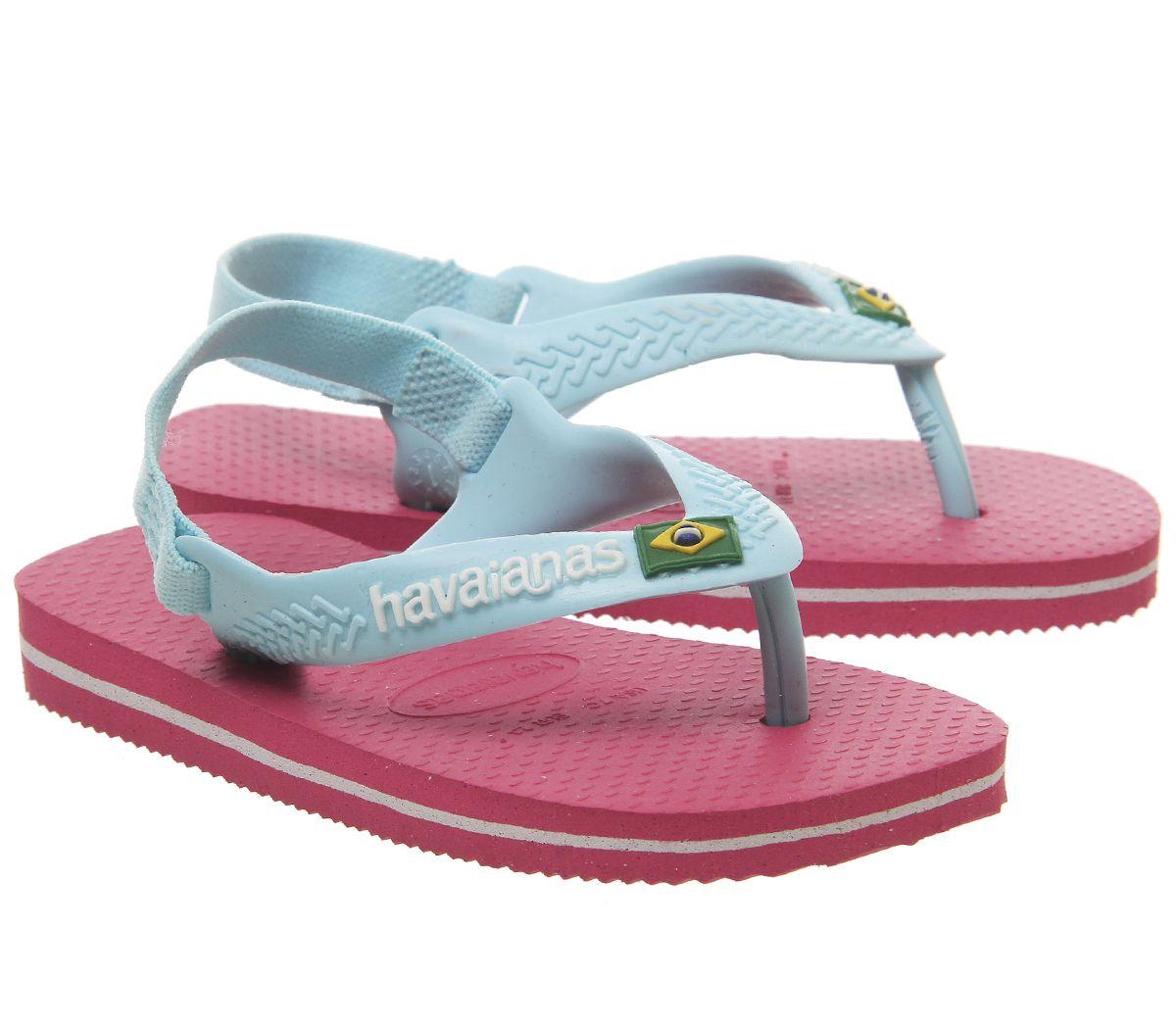Kids Havaianas Baby Brazil Flip Flops Flamingo Pink Mint Kids