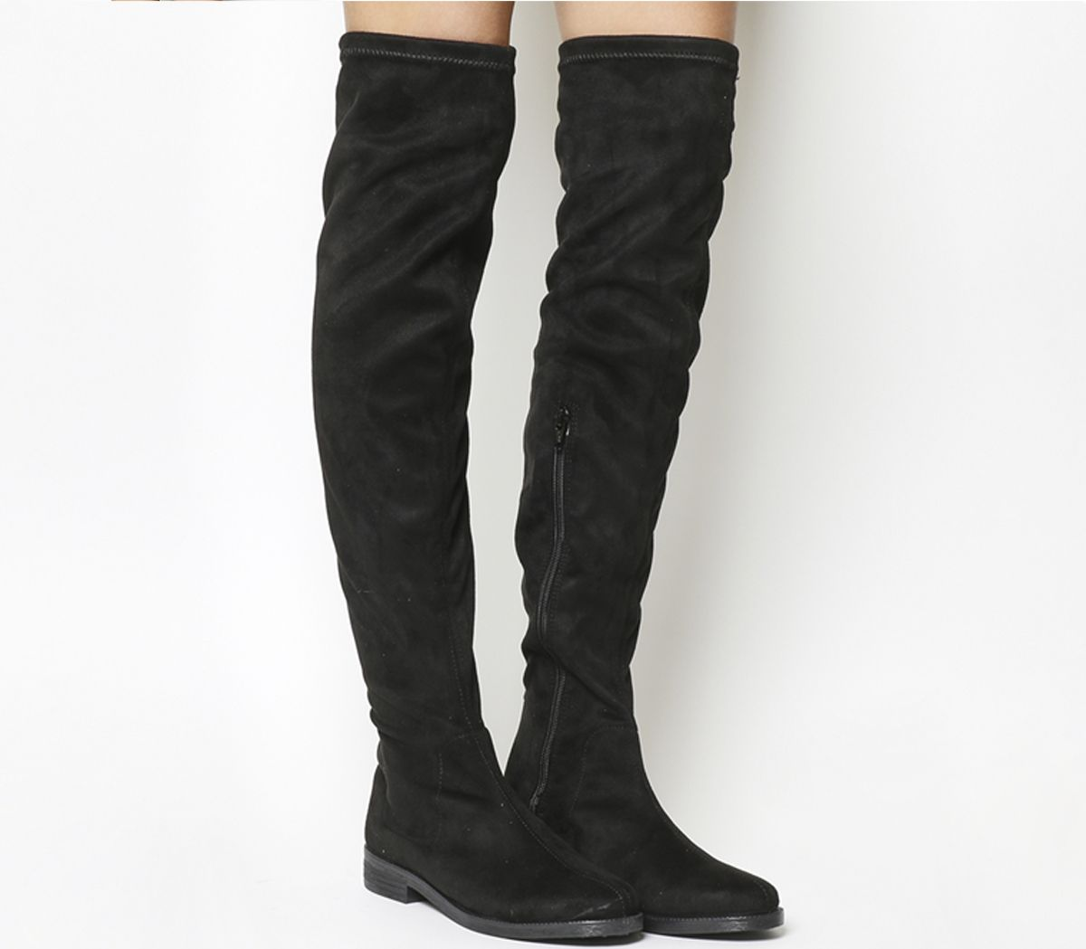 Womens Office Kung Fu Over The Knee Boots Black Boots
