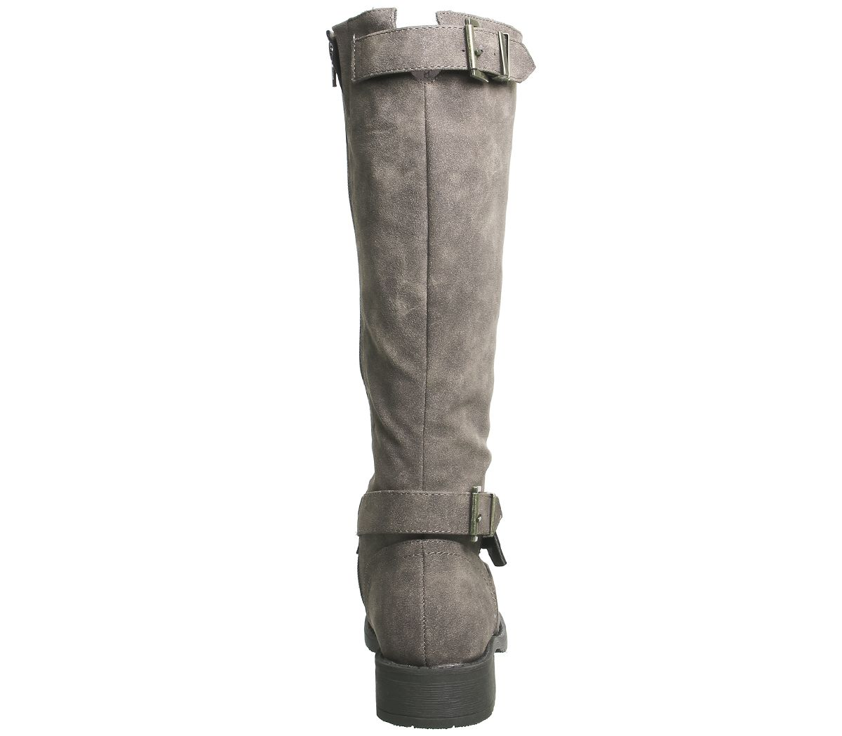 Womens Office Koala Buckle Biker Boots Brown Boots