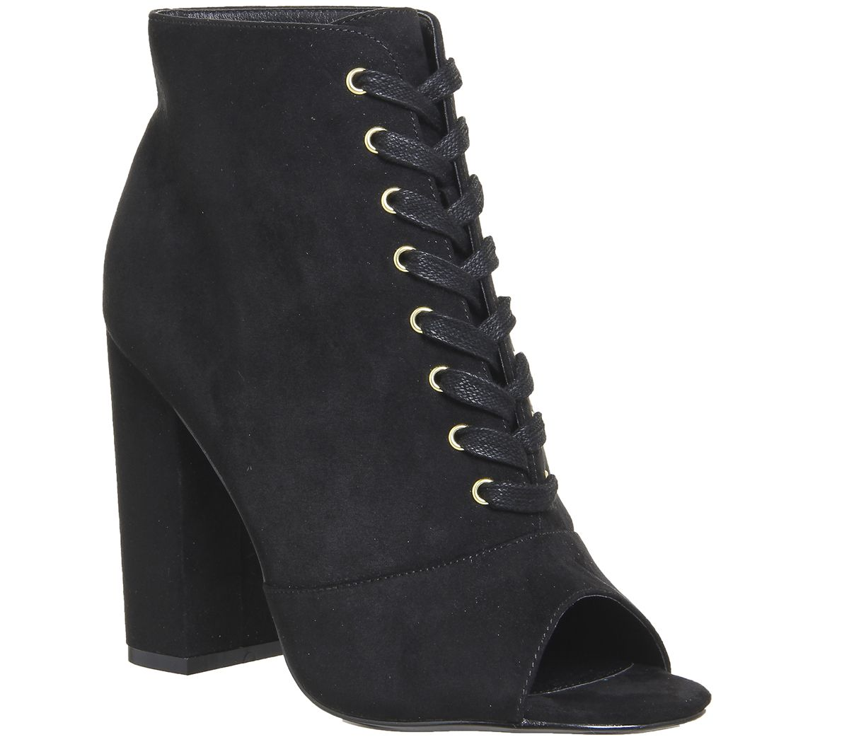 Womens Office Antoinette Lace Up Boots Black Boots