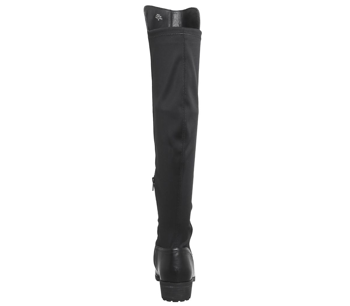 Womens Office Kensington Stretch Back Knee Boots Black Boots