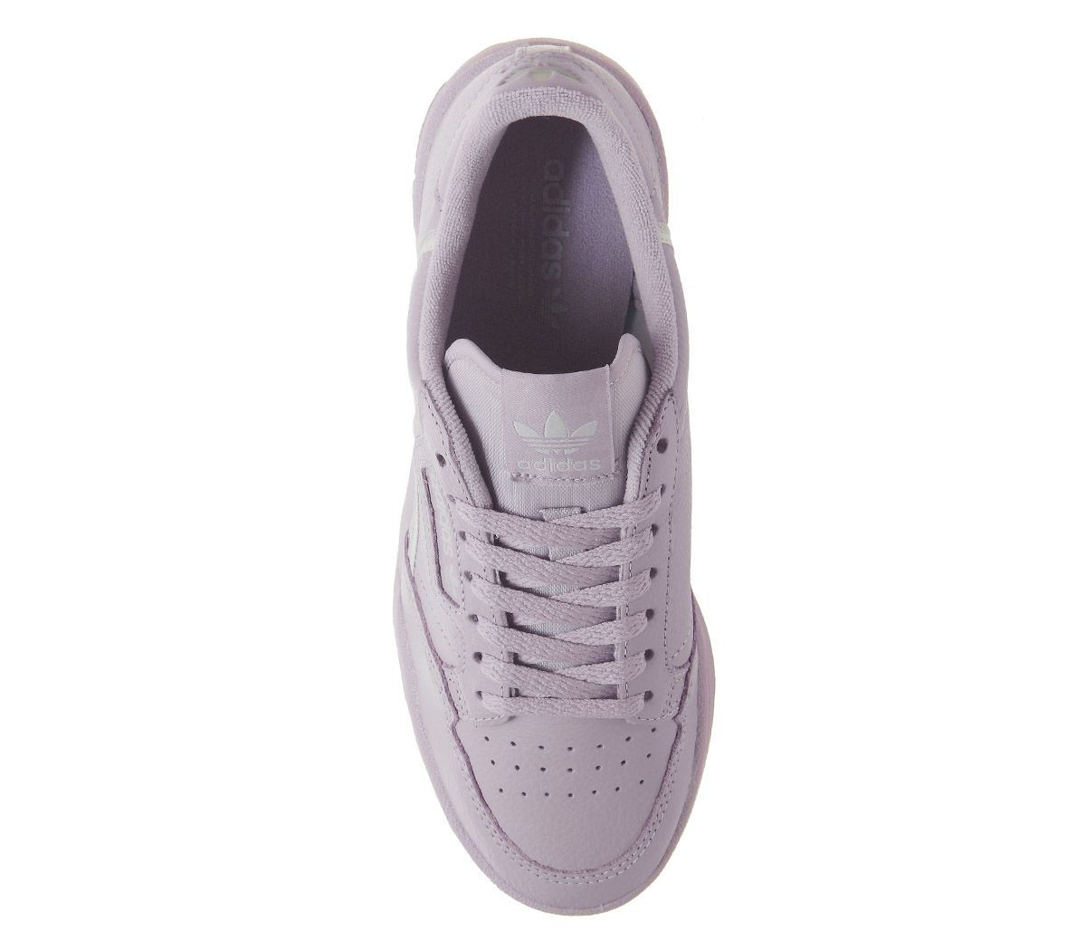 Womens Adidas 80S Continental Trainers Soft Vision Grey Trainers Shoes