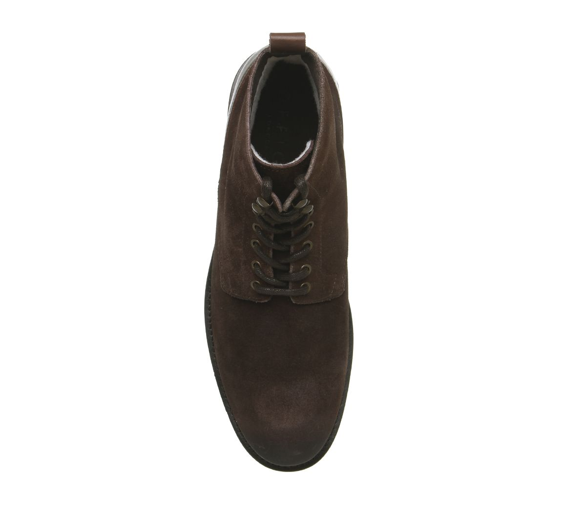 Mens Office Imbrue Lace Boots Chocolate Suede Boots