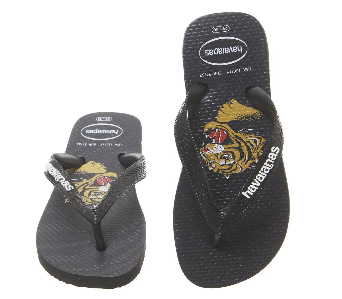 Kids Havaianas Kids Top Flip Flops Black Tiger Kids