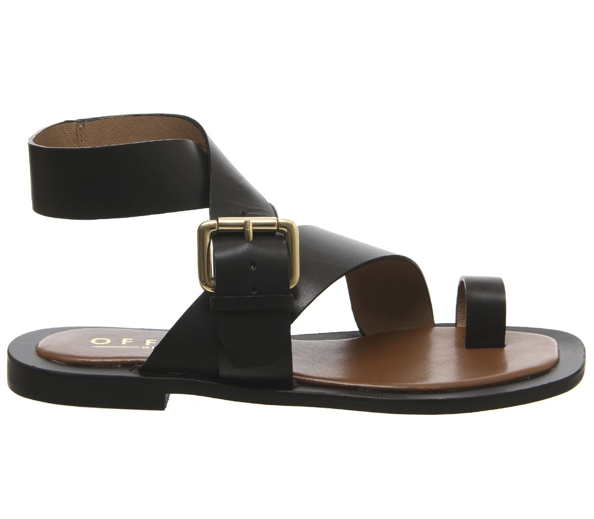 Womens Office Serenity Sandals Black Leather Sandals