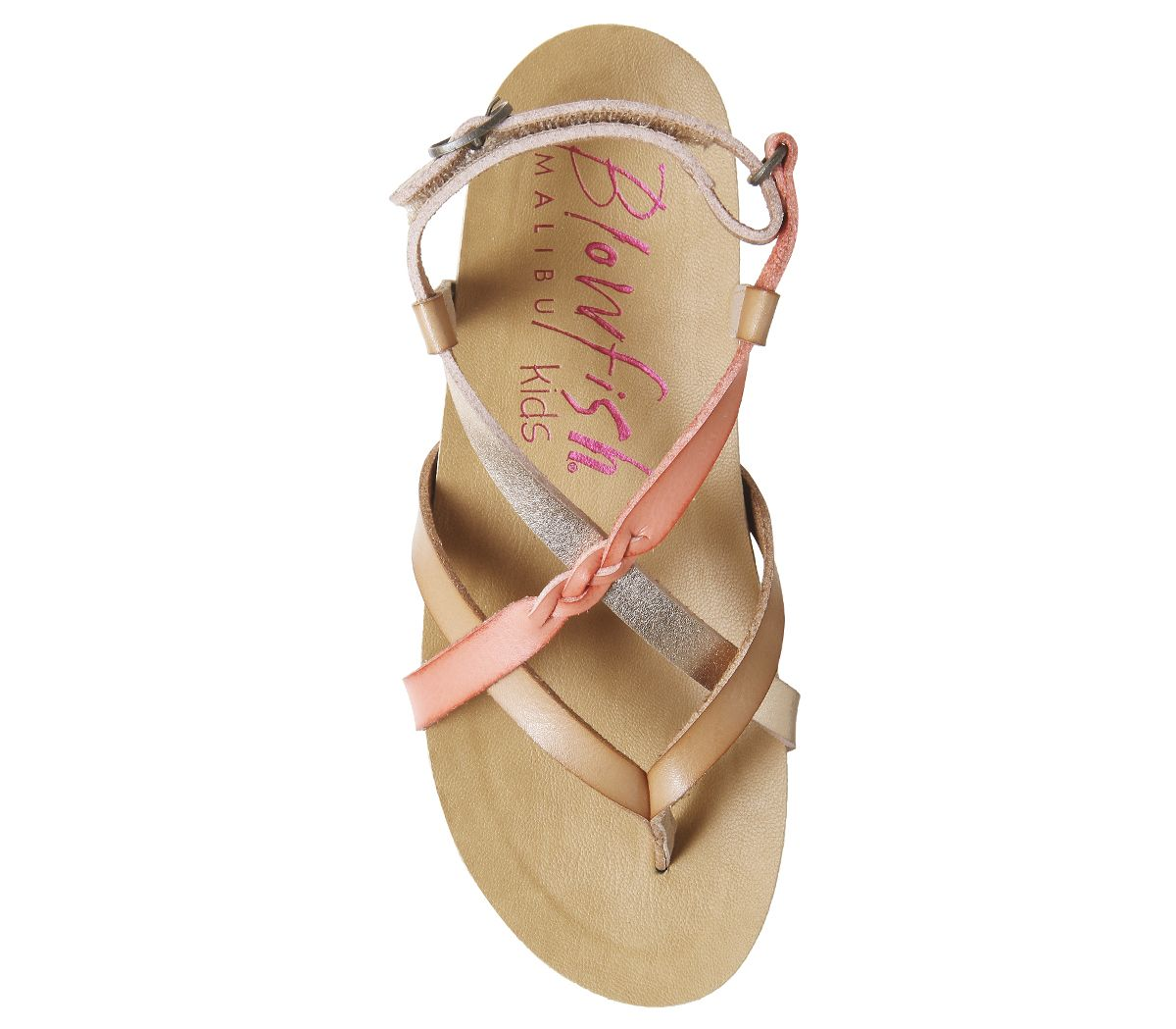 Kids Blowfish Malibu Granola K Sandals Nude Rose Gold Melon Kids