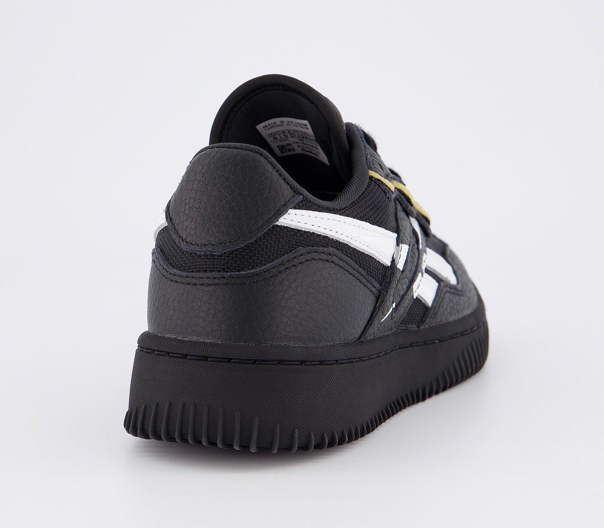 Womens Reebok Dual Court Ii Trainers Victoria Beckham Black White Trainers Shoes