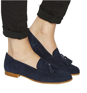 7545262e805 Womens-Office-Petra-Tassel-Loafers-NAVY-SUEDE-Flats thumbnail