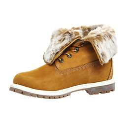 Womens-Timberland-Fur-Fold-Down-Boots-WHEAT-NUBUCK-