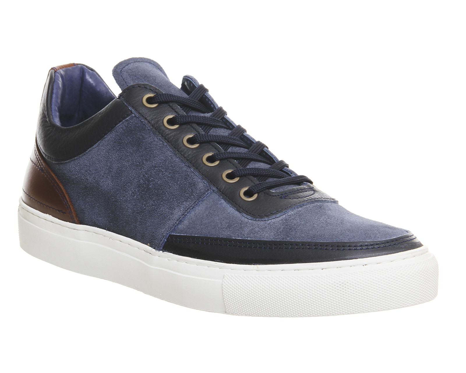 mens ask the missus creature sneaker navy nubuck casual