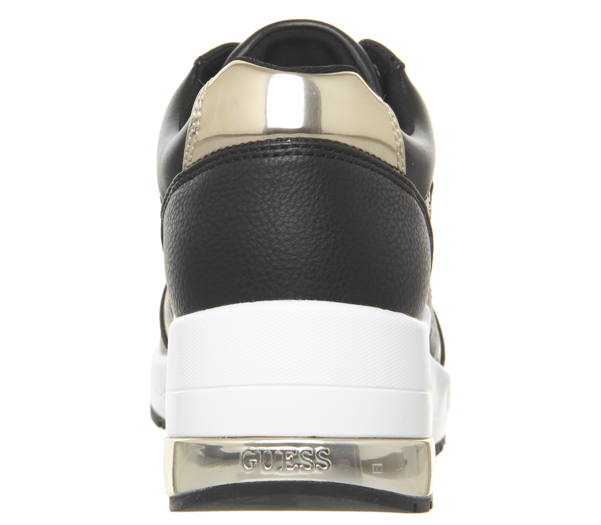 Womens Guess Janetta Quilted Trainers Black Trainers Shoes