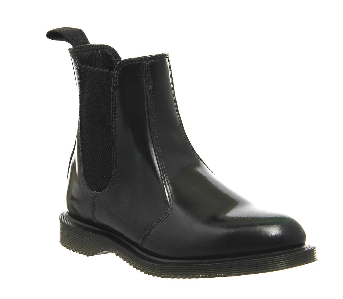 Womens Dr. Martens Kensington Flora GREEN ARCADIA LEATHER Boots | eBay