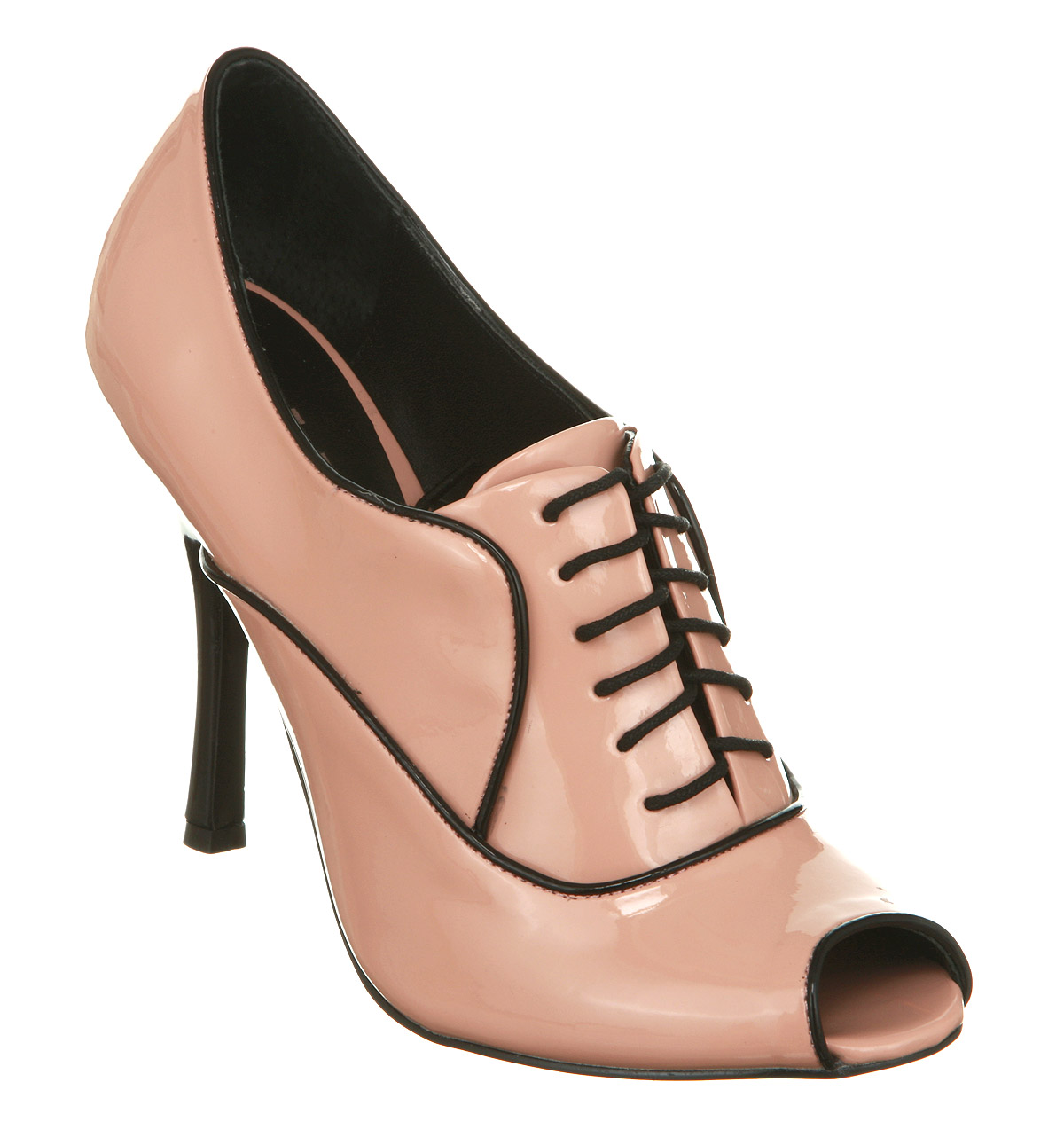 womens office perfected lace up pink patent heels shoes ebay