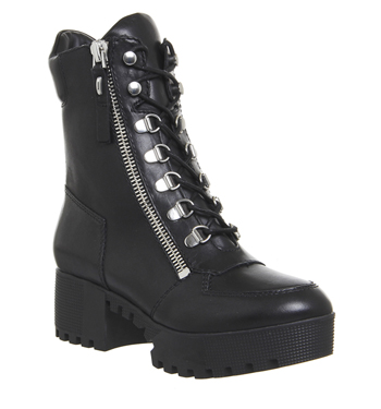 Womens-Kendall-Kylie-Phoenix-Lace-Boots-BLACK-LEATHER-Boots