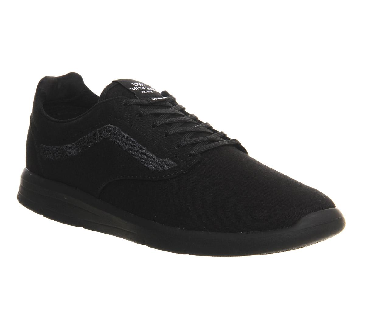 All Black Vans Boat Shoes