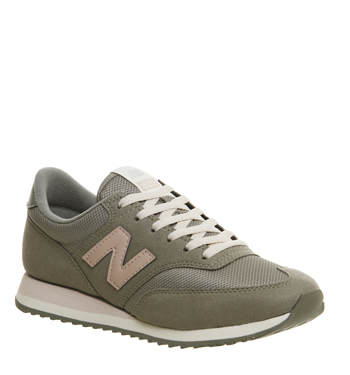 cc48ef3485c40 Womens New Balance 620 Trainers KHAKI PINK EXCLUSIVE Trainers Shoes ...